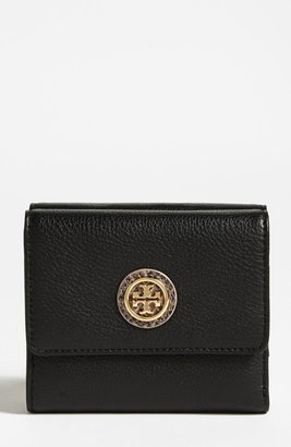 Tory Burch 'Clay' Double Flap French Wallet Black One Size