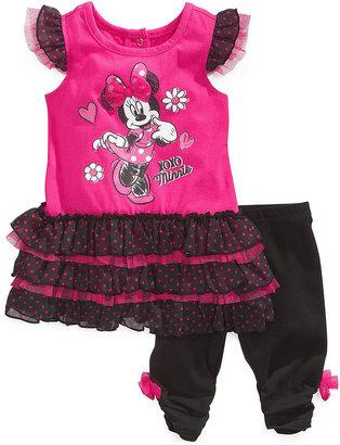 Nannette Baby Girls' 2-Piece Minnie Mouse Top & Leggings Set