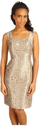 Jones New York Square Neck Princess Seam Dress (Chino Multi) - Apparel