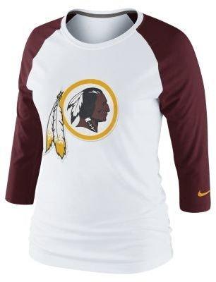 Redskins Nike 3rd 'n' Long Raglan NFL Washington Women's Shirt