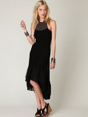 Free People Sleeveless Luxe Necklace Halter Dress