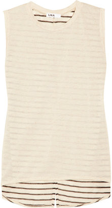 LnA Monte Carlo striped-back jersey top