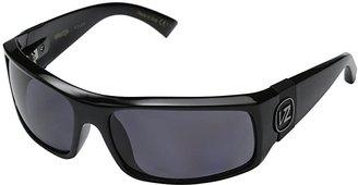 Von Zipper VonZipper Kickstand Polarized (Black Gloss/Vintage Grey Wildlife Polarized Lens) Sport Sunglasses