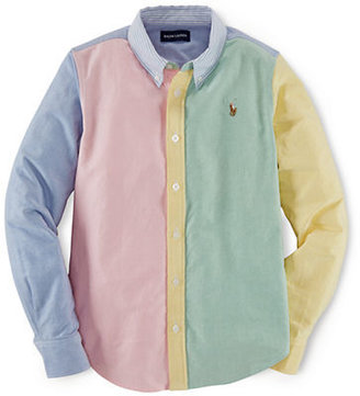 Ralph Lauren Girls 7-16 Multi-Color Collared Shirt