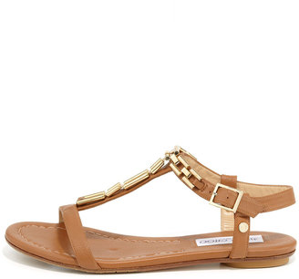 Jimmy Choo Narcissa Flat Chain Sandal, Brown