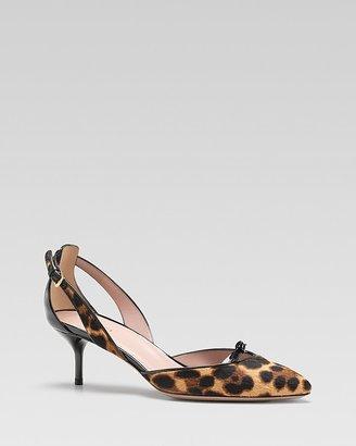 Gucci Beverly Jaguar Mid Heel Pump