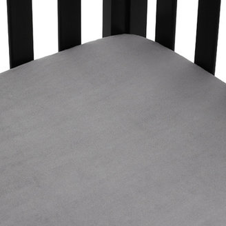 Bed Bath & Beyond Heavenly Soft Chenille Fitted Crib and Toddler Sheet - Steel Gray