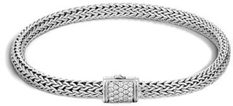Women's John Hardy Extra Small Chain Bracelet With Diamond Clasp $895 thestylecure.com