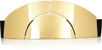 Lanvin Gold-tone and leather belt
