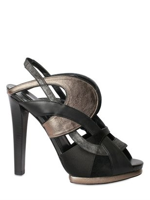 Diego Dolcini 120mm Laminated Calf Cage Sandals