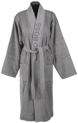 HUGO BOSS Plain Bathrobe - Concrete - L