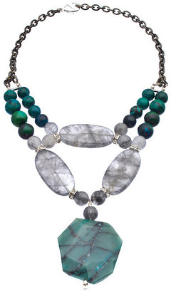 Minu Jewels Cryscholla Bib Necklace