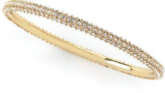 Fragments for Neiman Marcus Thin Rhinestone Bangle, Gold