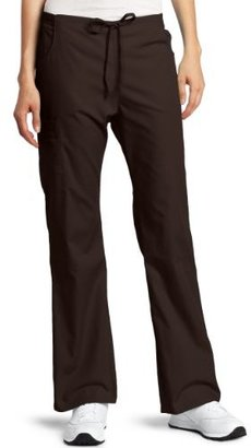 Dickies Scrubs Women's Tall Back Elastic Cargo Pant, Chocolate, X-Large