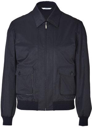 Brioni Midnight Blue Cotton-Blend Blouson Jacket