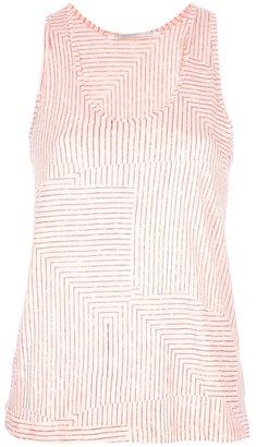 Proenza Schouler stripe print vest top