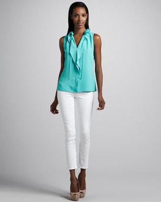 T Tahari Miranda Cropped Skinny Jeans