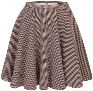 McQ by Alexander McQueen Houndstooth Full Circle Mini-Skirt