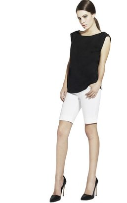 Alice + Olivia Rolled Sleeve Tunic Top
