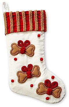 Martha Stewart MarthaHoliday Velvet Pet Christmas Stocking