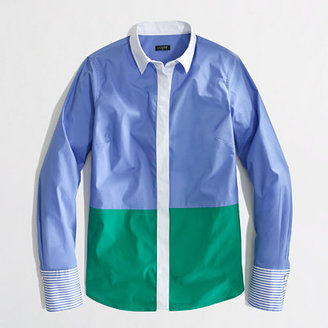 J.Crew Factory Factory stretch classic button-down shirt in colorblock
