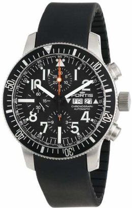 Fortis Men's 638.10.41 K B-42 Official Cosmonauts Black Automatic Chronograph Date Rubber Watch