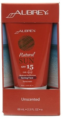 Aubrey Organics Natural Sun Saving Face Sunscreen SPF 15