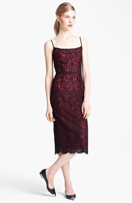 Michael Kors Floral Lace Sheath Dress