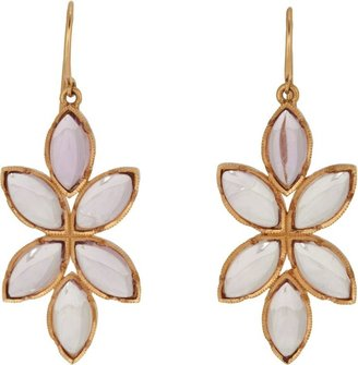 Irene Neuwirth Women's Floral Drop Earrings-Colorless