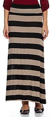 Living Doll Striped Knit Maxi Skirt