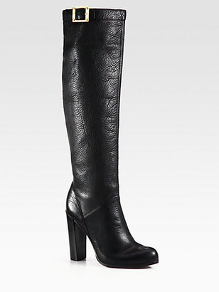 Rachel Zoe Carmen Leather Knee-High Boots