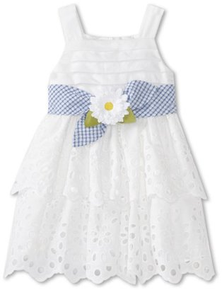 Sweet Heart Rose Girls 2-6X Tiered Eyelet Dress