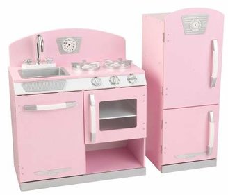 Kidkraft Pink Retro Kitchen and Refrigerator Play Set $132.99 thestylecure.com