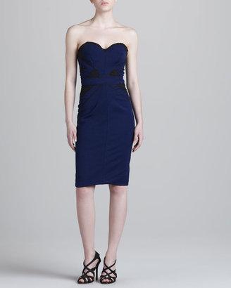 Zac Posen Bonded Strapless Jersey Dress, Blue