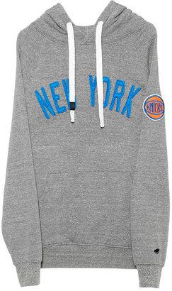 Olsen Sportiqe New York Knicks Pullover Hoodie in Grey