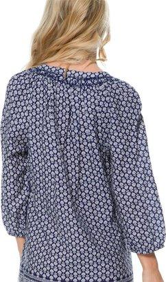 Roxy Paisley Three Quarter Sleeve Dress