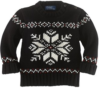Ralph Lauren Infant Boys' Snowflake Sweater - Sizes 9-24 Months