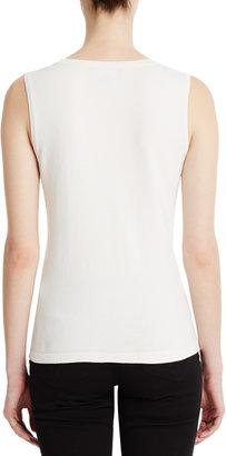Jones New York Silk Blend Sleeveless Scoop Neck Shell