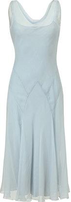 Ralph Lauren Pale Blue Silk Chiffon Griswold Dress