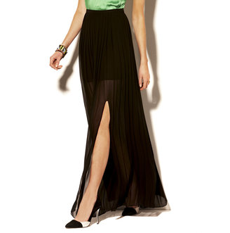 Vince Camuto Crystal Pleat Maxi Skirt