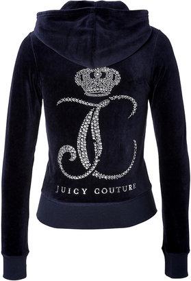 Juicy Couture Velour Ornate Monogram Hoodie