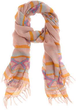 J.Crew Diamond stripe scarf