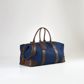 Polo Ralph Lauren Canvas & Leather Weekend Bag