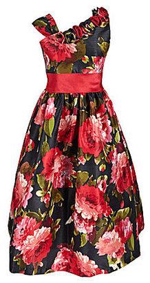 Jayne Copeland 7-12 Floral Shatung Dress
