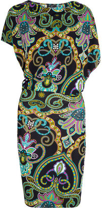 Etro Printed jersey-crepe dress