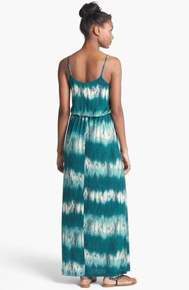 Lush Knit Tie Dye Stripe Maxi Dress (Juniors)