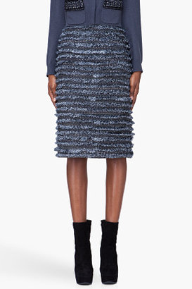 Marc Jacobs Blue Tiered Tinsel Othilia Skirt