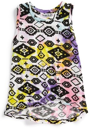 Flowers by Zoe 'Aztec' High/Low Tank Top (Little Girls)