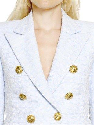Balmain Cotton Viscose Tweed Jacket