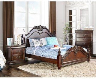 Furniture of America Diva 3-pc. Cherry Bedroom Set